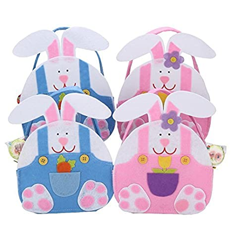 Amazon lerfey happy easter rabbit candy gifts bag easter lerfey happy easter rabbit candy gifts bag easter creative decoration 4 pack negle Gallery