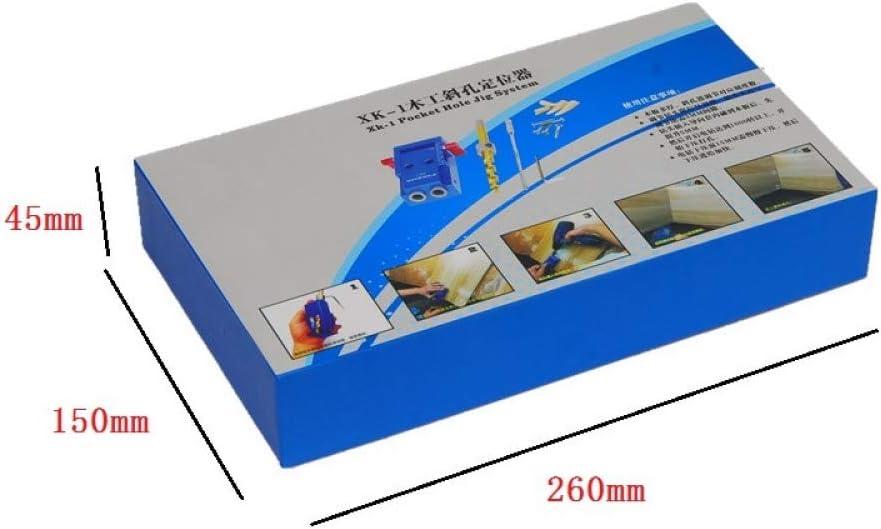 JingHai Mini Bolsillo Agujero Jig Kit Destornillador Paso Taladro Broche Llave con Caja para Kreg Herramienta para Trabajar la Madera HT1145-100pcs M4-25