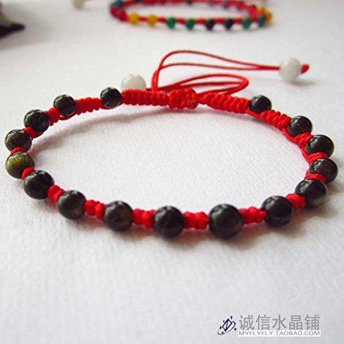 Natural gold bracelet Obsidian Black snow red string bracelet Ly evil transit bracelets transfer beads handmade