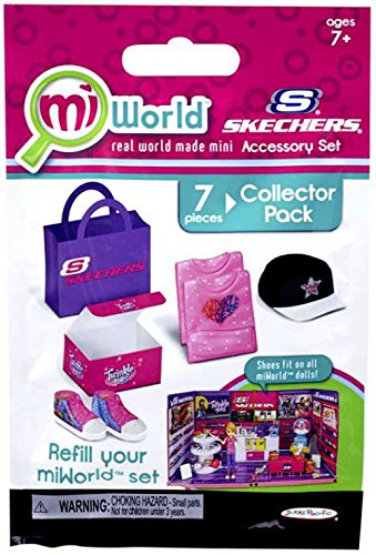 miWorld Mall Sketchers Accessory Set Collector's Pack - Twinkle Toes Shoes, Shirt and Hat