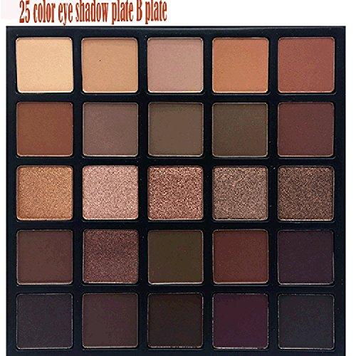 Eyeshadow Palette,lotus.flower 25Colors Waterproof 25A Copper Spice OR 25B Bronzed Mocha Color Eyeshadow Palette U Choose (B)