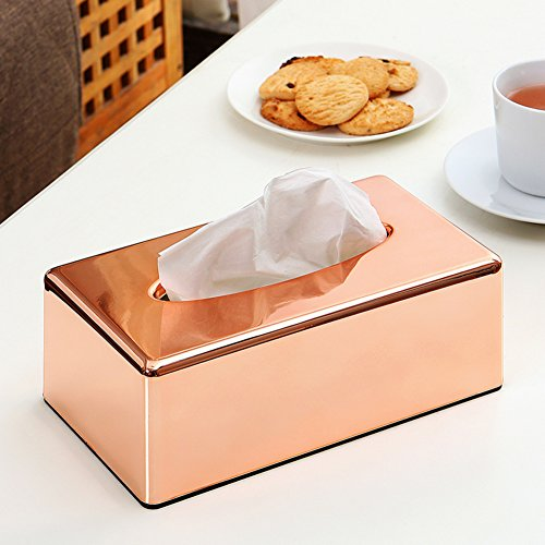 Rose Gold Tissue Box Living Room Home Kitchen Paper Towel Box Office Creative Drawer