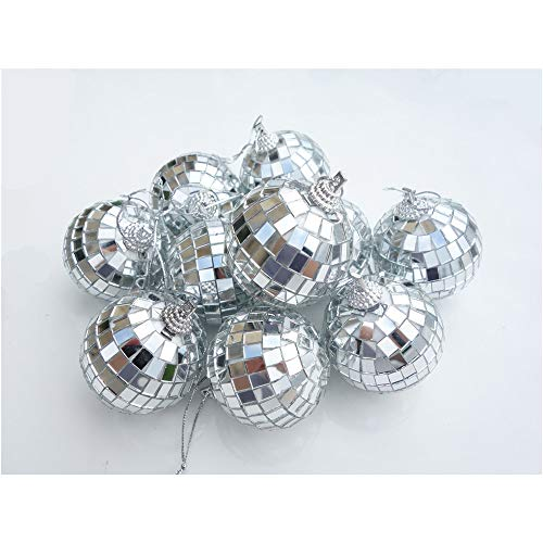 Paper Pig 24 Pcs 2 Inch Disco Ball Decoration Mirror Ball Ornament for Party Christmas Xmas Tree]()