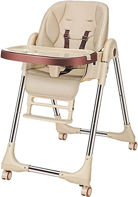 Trona de madera estable con bandeja ajustable silla de comedor para ni/ños peque/ños