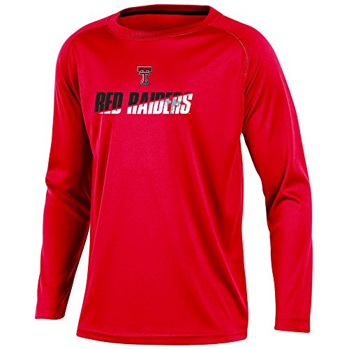 NCAA Texas Tech Red Raiders Youth Boys Long Sleeve Crew Neck T-shirt, - Crew Tech T-shirts
