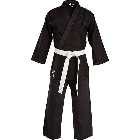 Blitz Adult Polycotton Student Judo Suit Uniform Gi Training 350gsm Black