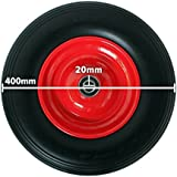 Pannensicheres Schubkarrenrad, Vollgummi-Reifen mit Präzisions-Kugellager, Universal Schubkarren-Reifen PU auf Stahlfelge mit 150 kg Traglast