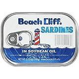 Beach Cliff Sardines in Soybean Oil, 3.75oz, 18 Count
