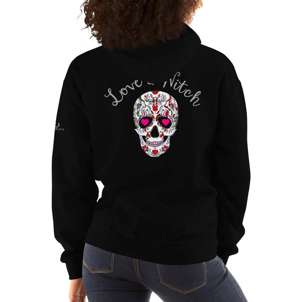 Wiccan Inspired Love a Witch Hooded Sweatshirt