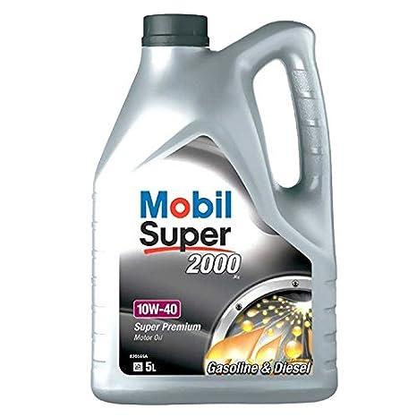 Mobil Super 2000 X1, Aceite de Motor, 10W-40, 5 Litros: Amazon.es: Coche y moto