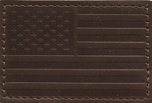 Tactical USA Leather Patch - Chestnut - X Usa