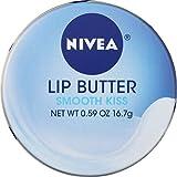 NIVEA Lip Butter Loose Tin, Smooth Kiss, 0.59 Ounce