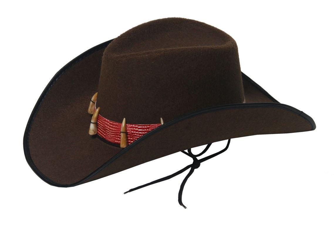 Rimi Hanger Mens Brown Cowboy Hat Unisex Western Cowboy Accessory Hat One Size
