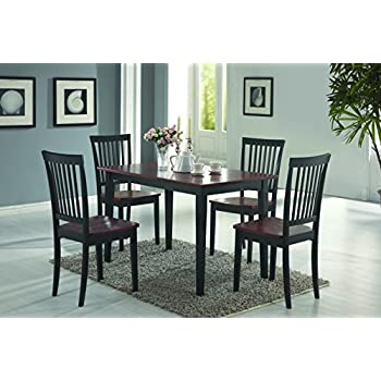 Amazoncom5Piece Dining Set in BlackCoasterTableChair
