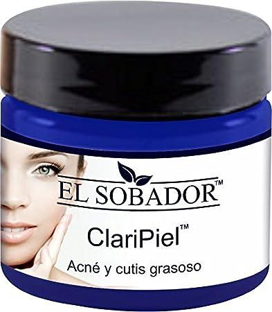 Claripiel - Crema Aclaradora - Crema Facial Natural para piel CONGESTIONADA con problemas de GRASA Y