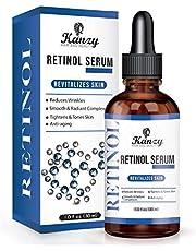 Kanzy Retinol Serum voor gezicht 2.5% active ingrediënt vegan hyaluronzuur, vitamine A, E. organische aloë vera anti-aging, anti-rimpel gezichtsserum 30ml
