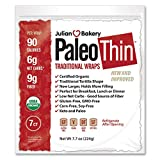 Paleo Thin Wrap USDA Organic (49 Individual Wraps) (Gluten Free & Low Net Carbs) VeganⓋ