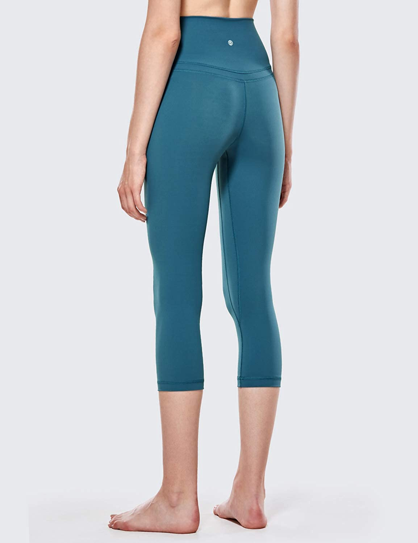 48cm CRZ YOGA Donna Vita Alta Yoga 3//4 Capri Pantaloni Sportivi Leggings con Tasche Sensazione Nuda