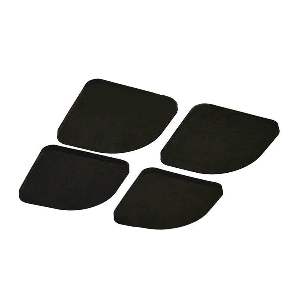 DIAMOEN 4pcs EVA Noir Lave-Linge Tapis Anti-Choc Anti-d/érapant R/éfrig/érateur Mute Pad
