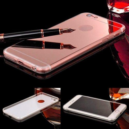 e5791e2ec35 Donkeyphone 599371031 - funda gel con efecto espejo dorada rosa carcasa  silicona transparente para iphone 6 plus y 6s plus (5,5\\\: Amazon.es:  Informática