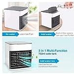 topuhair-Condizionatore-dAria-Portatile-3-in-1-Ventola-evaporative-Air-Cooler-Portable-Personal-Space-Air-Cooler-Piccolo-Ventola-di-Raffreddamento-Desktop-USB-Mini-Tavolo-Bianco