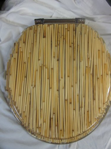 Seat Clear Standard Toilet (Decorative Bamboo Shoot Plastic Toilet Seat)