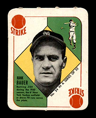 24 Hank Bauer 1951 Topps Red Back Baseball Cards Graded Exmt