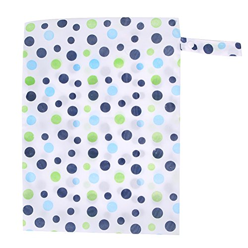 Tangc Baby Waterproof Nappy Storage Bag Diaper Bag Washable Nappy Dry Wet Cloth (5#)