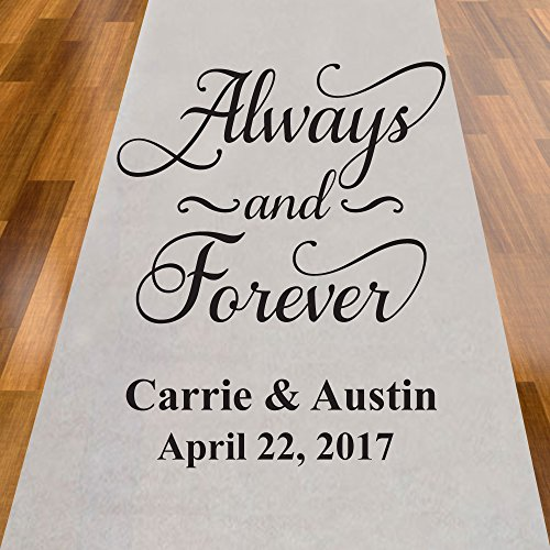 Always and Forever Personalized Aisle Runner ()