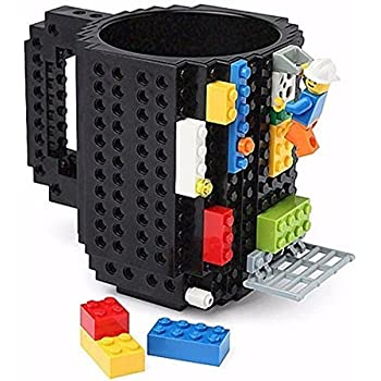 Happo Creative DIY Assembled BPA-Free Build On Brick Coffee Mug, 12 oz With Accessories