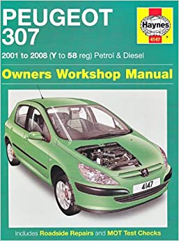 peugeot 307 petrol and diesel owners workshop manual 2001. Black Bedroom Furniture Sets. Home Design Ideas