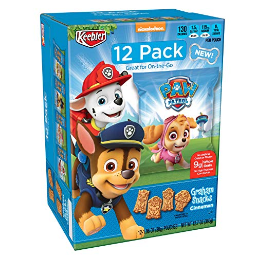Keebler PAW Patrol, Graham Snacks, Cinnamon, Great for On-the-Go, 1.06 Ounce, Pack of -