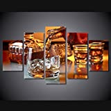 Brown Liquor In Cup Painting on Canvas Wall Art for Living Room Picture Wine Whisky Prints Motivational Posters Modern Home Decor Artwork Gallery-wrapped Framed Stretched Ready to Hang(50''Wx24''H)