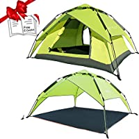 REDCAMP 2-3 Person Instant Tents for Camping, Automatic...