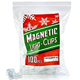 Extra Strong Magnetic Christmas Light Clips Holiday Lighting Magnet for C9 Holiday Lighting Sockets, can be used for Patio Lighting, and with Christmas Tree and Edison Globe String lights. Pack of 100