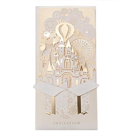 Amazon Com 6pcs 3d Gold Gilding Wedding Invitations Cards