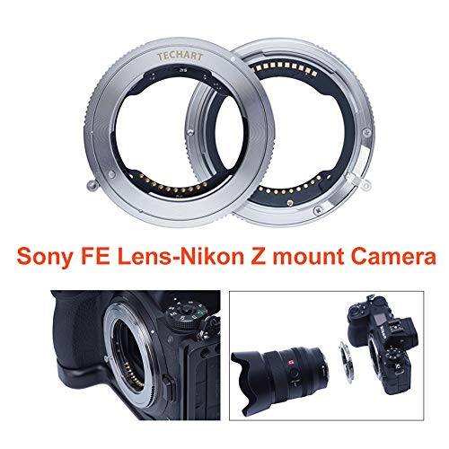 TECHART TZE-01 Camera Lens Adapter, Auto-Focus Adapter Ring Compatible for Sony FE Tamron Sigma F Mount Lens to Nikon Z Mount Camera Z6 Z7