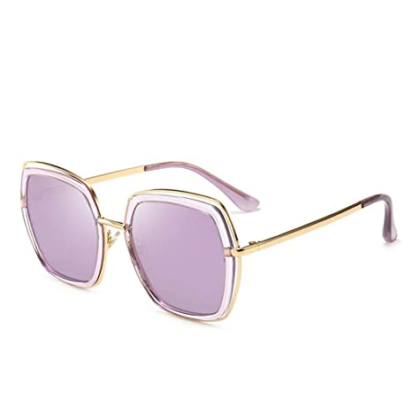 ODSHY Gafas de Sol Anti-UV Redondo Rectangular Cara Moda ...