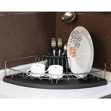 Tutti Cuisine GLO3613 Abtropfgestell, Eck-Design, Kunststoff/Metall ...