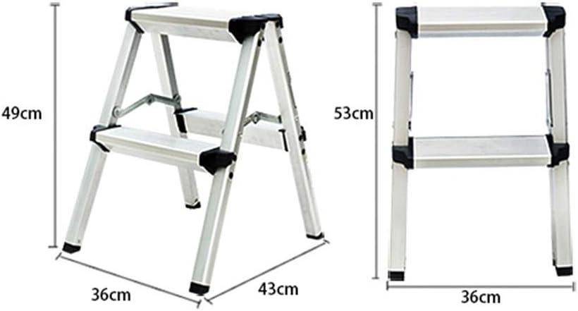 BAIF Escalera Taburete, Mini Taburete portátil Escalera telescópica Plegable de aleación de Aluminio de Doble Uso Escalera Ascendente Escalera Plegable para Oficina en casa (Color: A): Amazon.es: Hogar