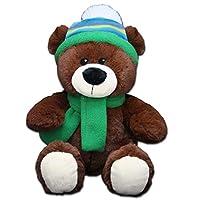 "Anico Cuddly Plush Christmas Bear with Bow, 11"""