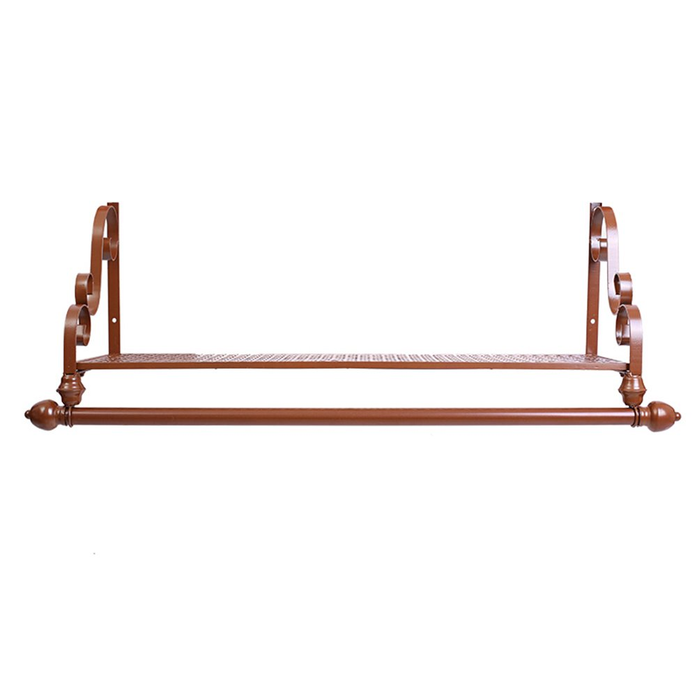 Iron clothing racks / clothing store shelves / display stand / wall shelves rack / wall hanging on the wall hangers / coat racks / clothes drying clothes rack ( Color : Bronze , Size : 12028cm ) by Hook up