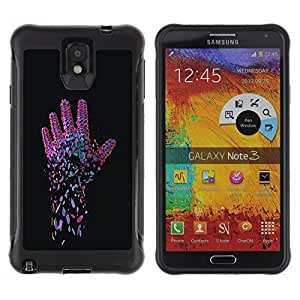 """Hypernova Defender Series TPU protection Cas Case Coque pour SAMSUNG Galaxy Note 3 III / N9000 / N9005 [Neon Pink Mano""""]"""