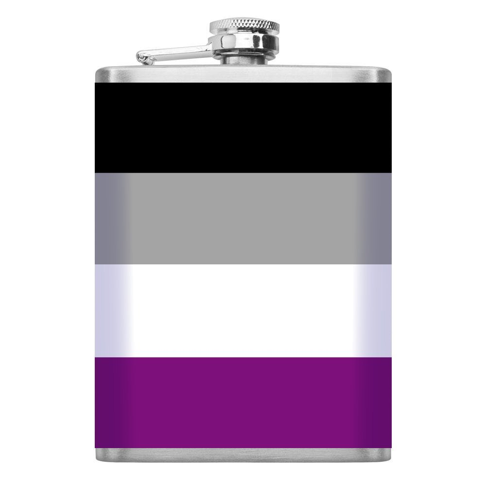 割引購入 Neurotic Sphynx LGBT LGBT – Pride Flag Neurotic – ビニールWrappedステンレススチールフラスコ(acesexual) B07DQGJRS7, ハンドメイドのお店preser:61c05dc6 --- a0267596.xsph.ru