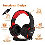 Kworld G15 PC Gaming Over-Ear Headset with 40mm Driver & LED light emphasis on Virtual Surround Sound, Volume Control and Noise Isolation, Black