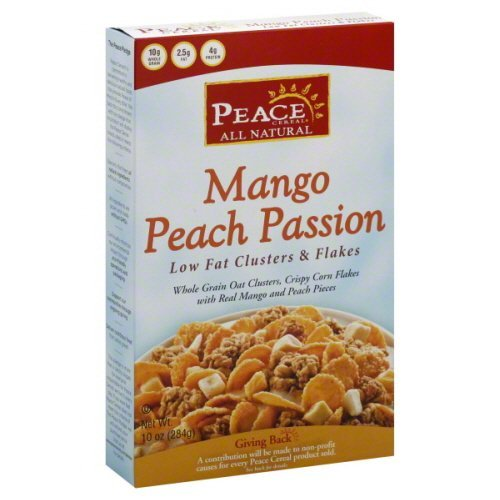 Peace Cereal Mango Peach Passion Cereal 10 oz - Pack of 6 by Peace Cereals