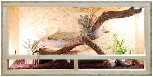 Terrario: madera Terrario para Reptiles página ventilación 120 x 60 x 60 cm, alta calidad Terrario Madera de OSB, montaje sencillo