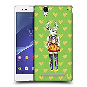 Head Case Designs Green Demi the Fashion Doe Protective Snap-on Hard Back Case Cover for Sony Xperia T2 Ultra Dual T2 Ultra