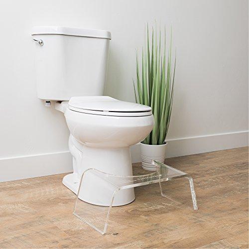 Squatty Potty Ghost Acrylic Toilet Stool, 7'' by Squatty Potty (Image #1)
