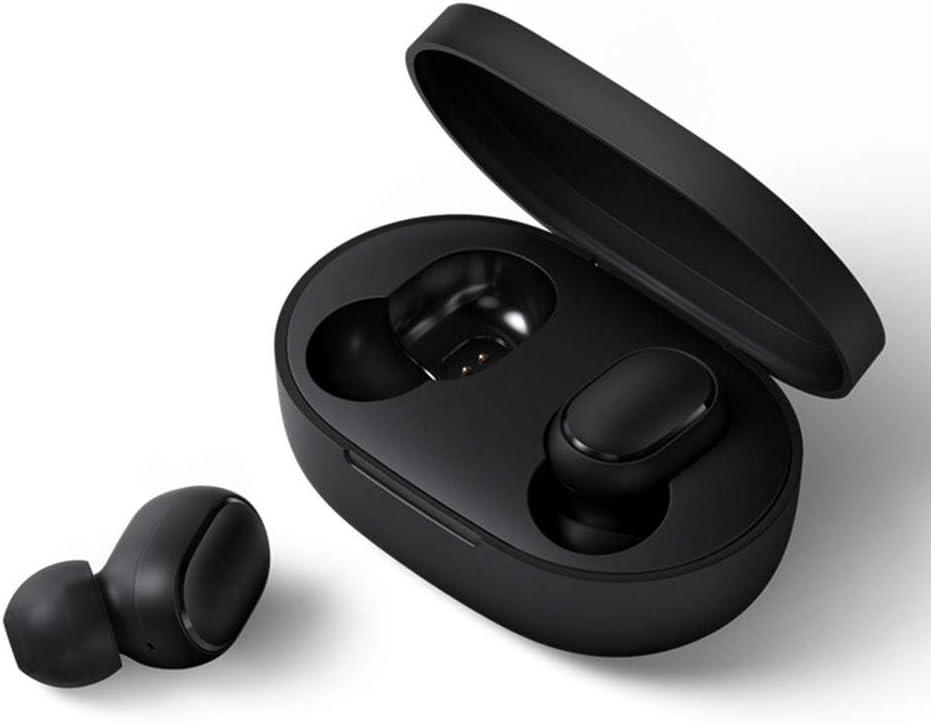 Redmi Airdots Bluetooth Auriculares, Origina Redmi Airdots Inalámbricos Auriculares Estéreo Bluetooth V5.0, Cargador portatil Estereo Bluetooth Auriculares Gemelos con Estación de Carga Magnética